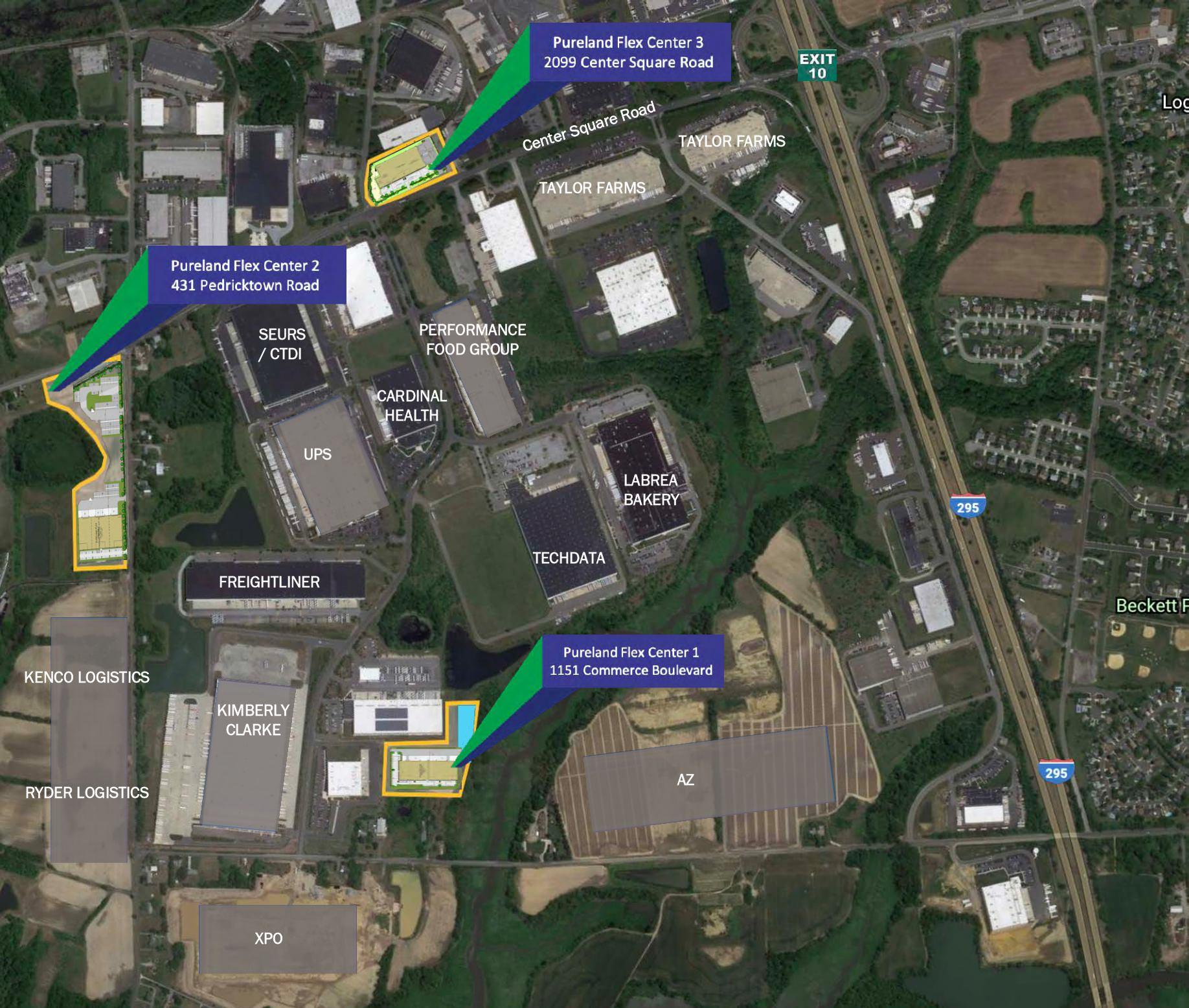 Pureland Flex Center - Overview Map