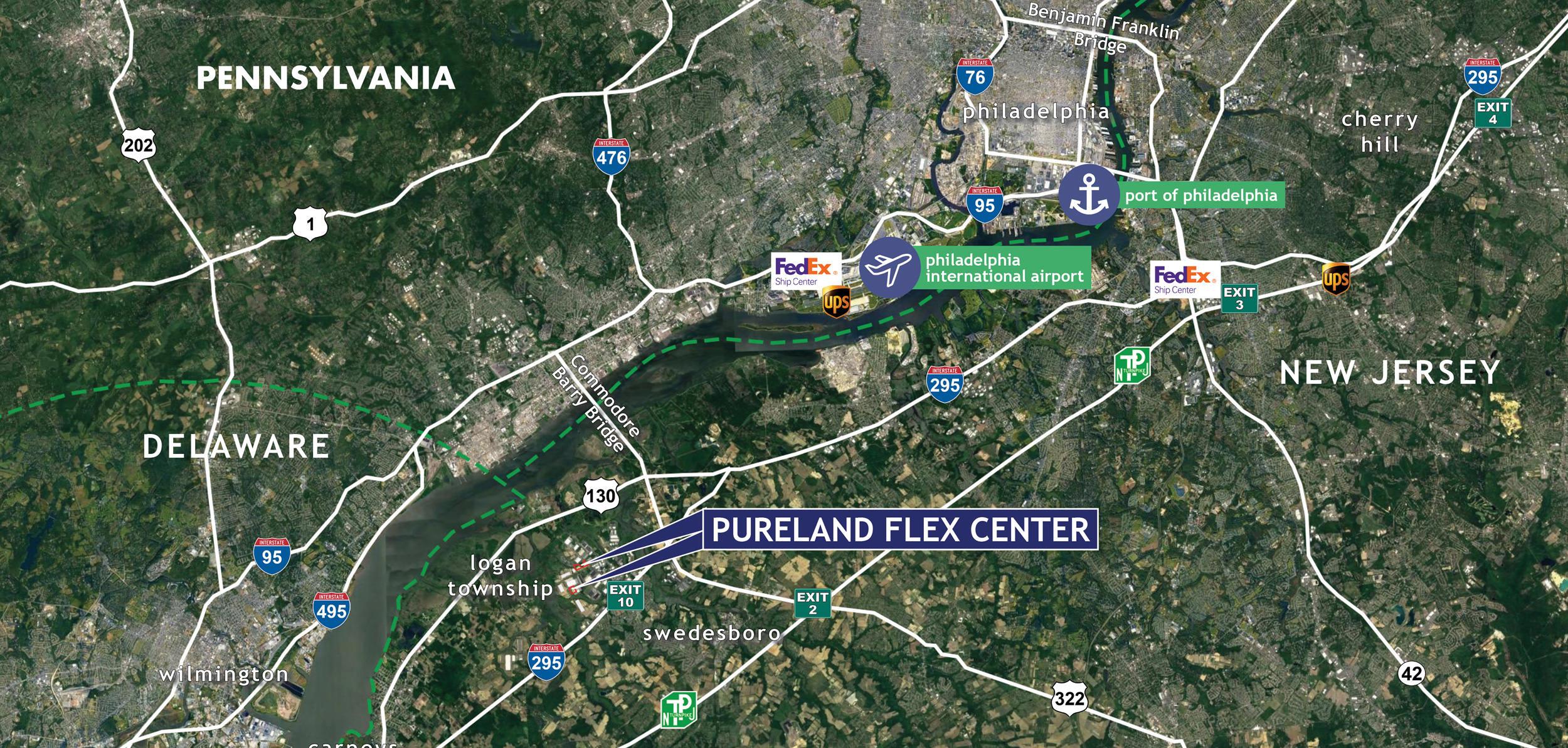 Pureland Flex Center - Locations Map